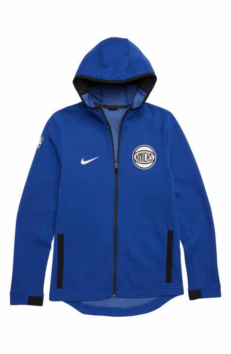Nike New York Knicks Showtime Dri-FIT Zip Hoodie (Big Boys)
