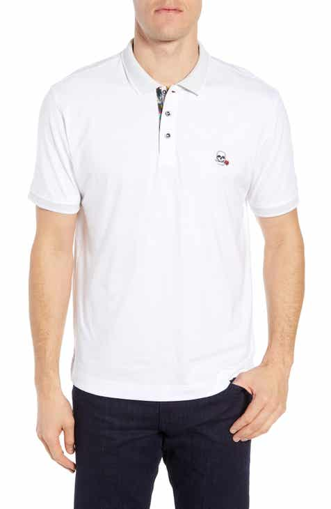 a55dcd1c Robert Graham Easton Classic Fit Skull Appliqué Polo