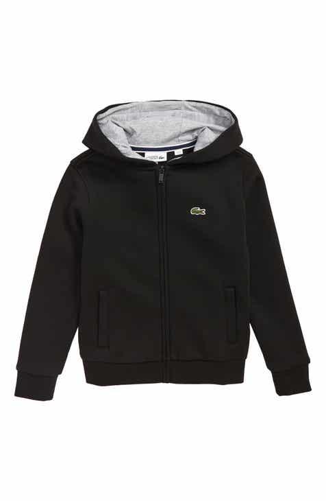 6c3342e2aac6da Lacoste Sporty Fleece Full Zip Hoodie (Big Boys)