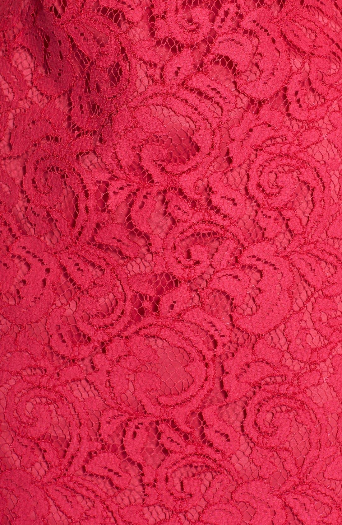 Alternate Image 3  - Adrianna Papell Beaded Lace Sheath Dress (Regular & Petite)