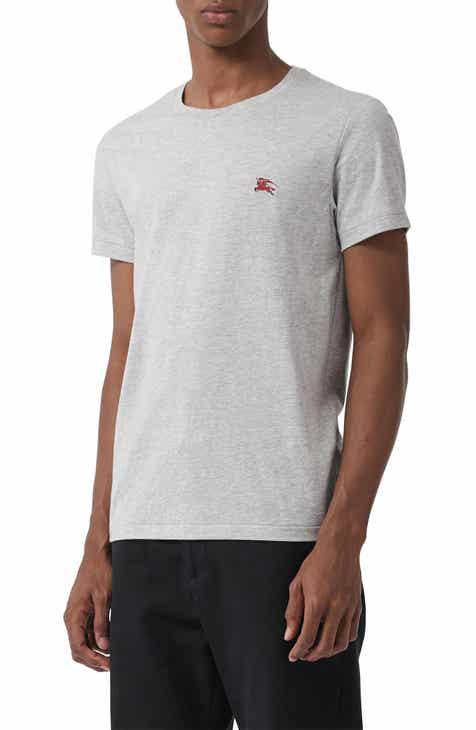 93f3ae592b9d8 Burberry Logo Embroidered Crewneck T-shirt