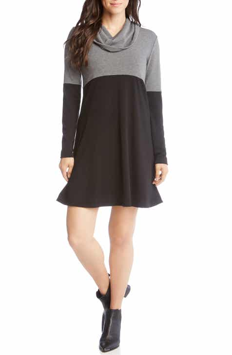 Karen Kane Cowl Neck Colorblock Dress by KAREN KANE