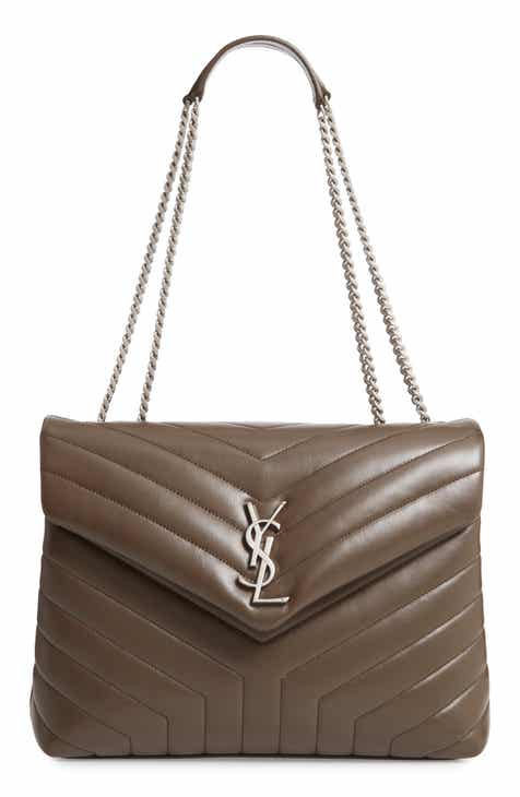 70c1d458ee03 Saint Laurent Medium Loulou Calfskin Leather Shoulder Bag