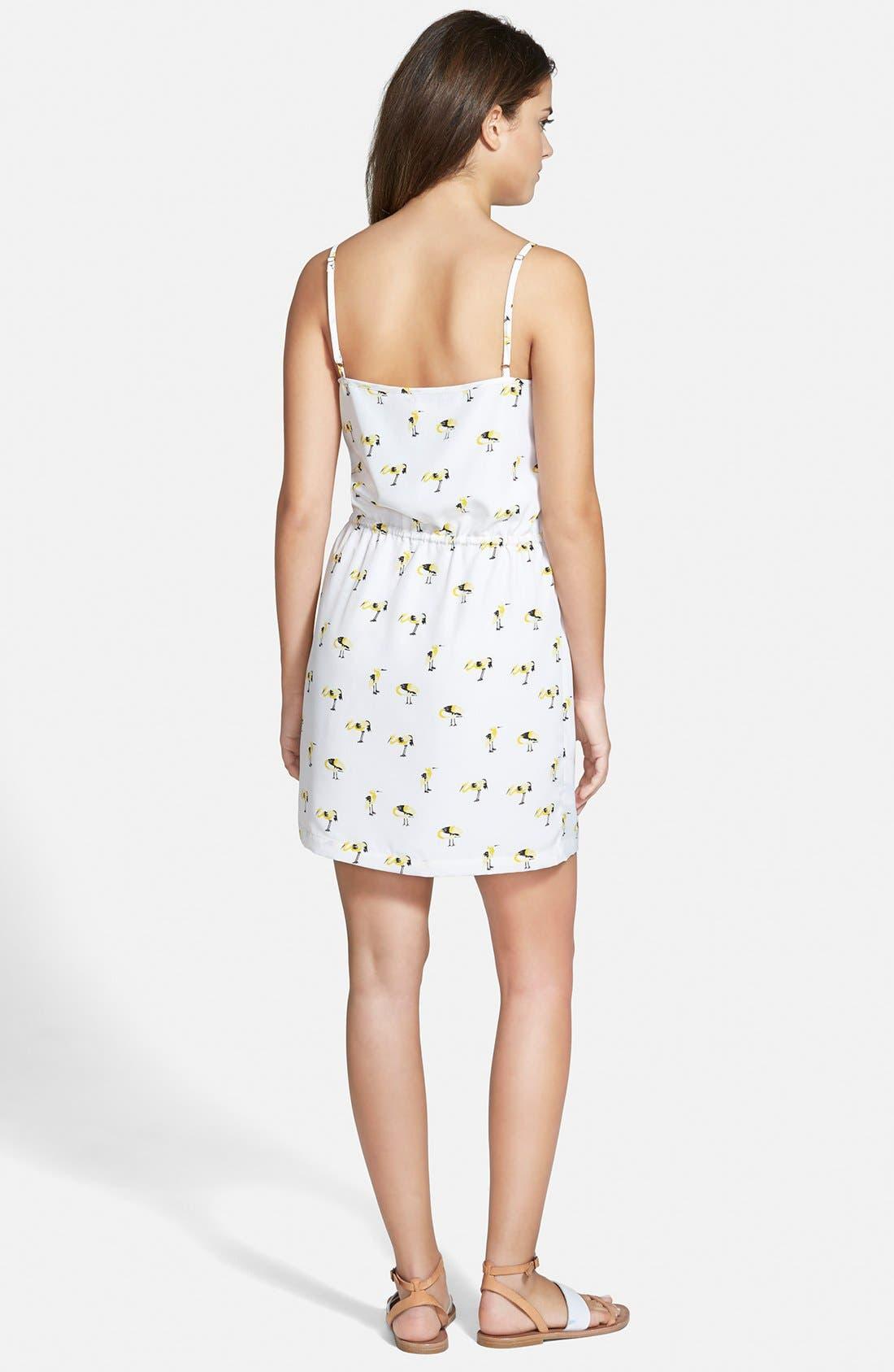 Alternate Image 2  - oat + fawn Bird Print Dress