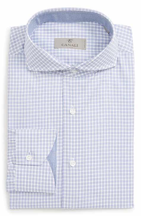 9ceeb56a91e Canali Regular Fit Check Dress Shirt