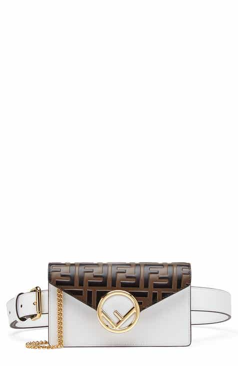 Fendi Logo Calfskin Leather Convertible Belt Bag