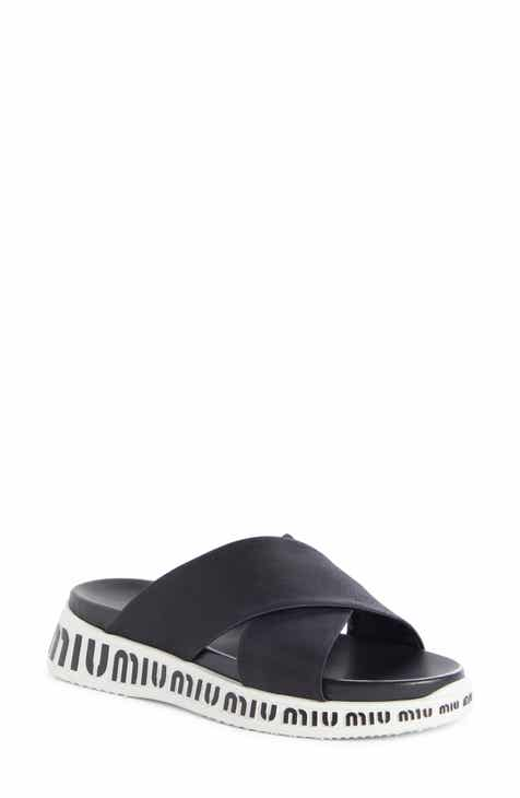 65f22f6f94c1 Miu Miu Run Logo Slide Sandal (Women)