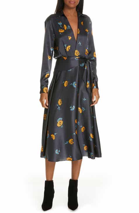 8f5537df4f87 Equipment Vivienne Print Faux Wrap Silk Dress