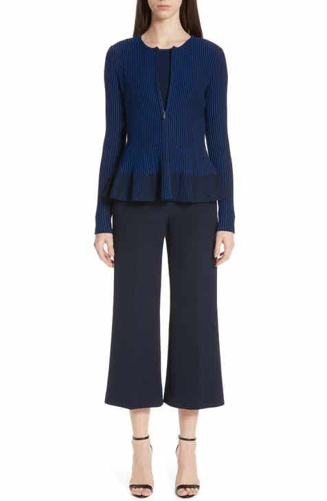 St. John Collection Bella Double Weave Crop Flare Pants by ST. JOHN COLLECTION