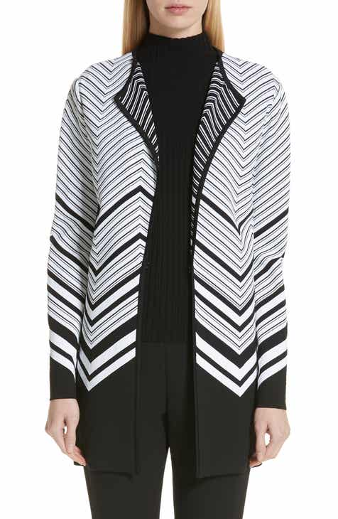 St. John Collection Chevron Jacquard Sweater Jacket by ST. JOHN COLLECTION