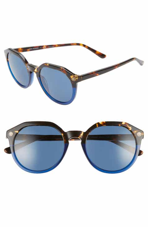 fb3ac51212 Tory Burch 52mm Round Sunglasses