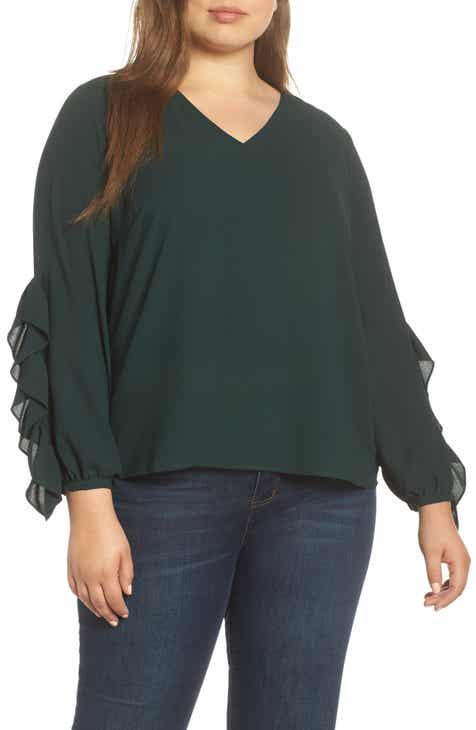 91ec8afcff1a6 STATE Ruffle Sleeve Blouse (Plus Size)