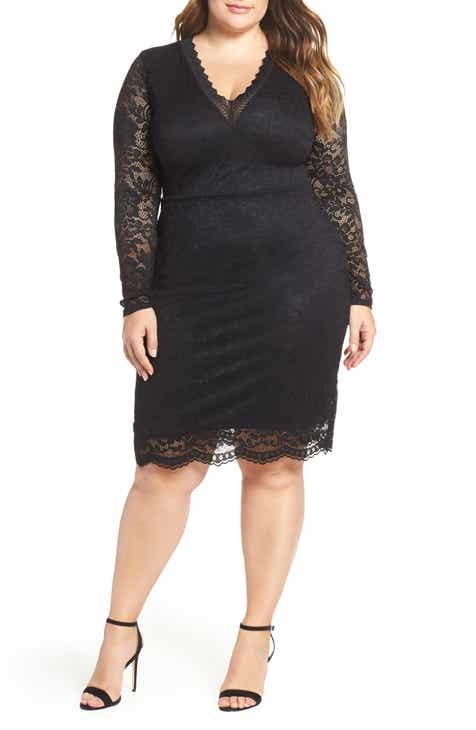 b4736bf69276b LOST INK Lace Body-Con Dress (Plus Size)
