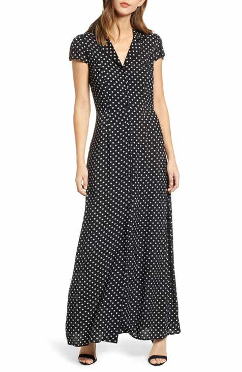 d2999e66d67 Row A Polka Dot Maxi Dress