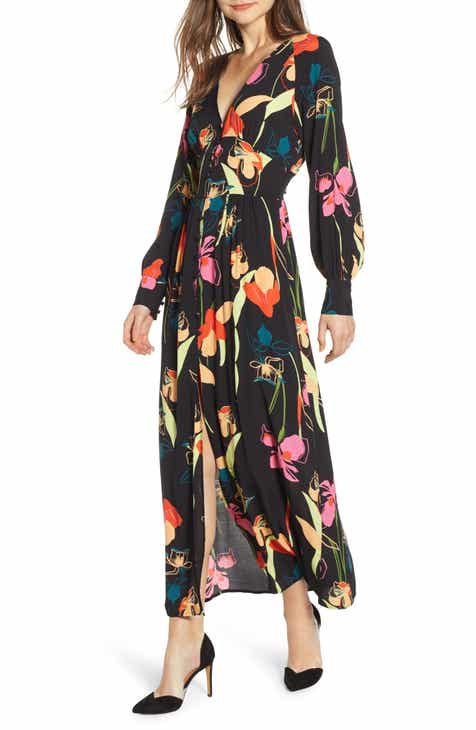 a5cb552f086 Leith Floral Print Maxi Dress