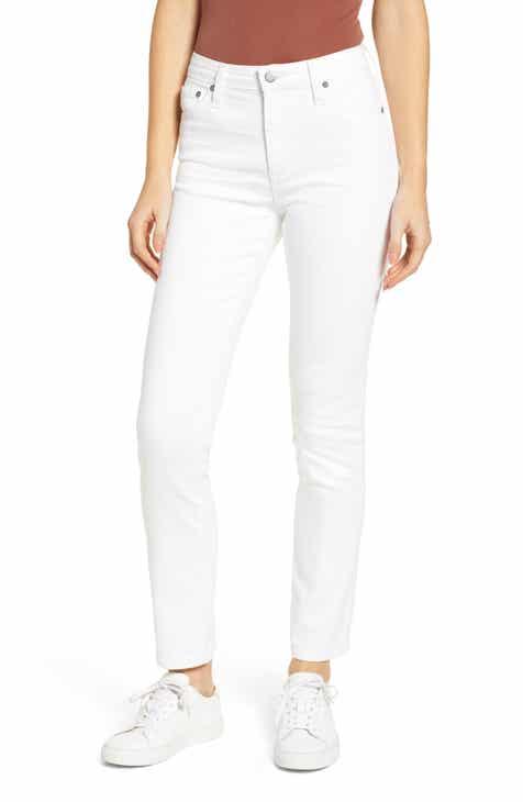 23e1824e34d7 AG Mari High Waist Slim Straight Leg Jeans (01 Year Tonal White)