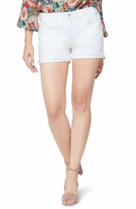 PAIGE Hoxton High Waist Fray Hem Crop Slim Jeans (Crisp White) by PAIGE