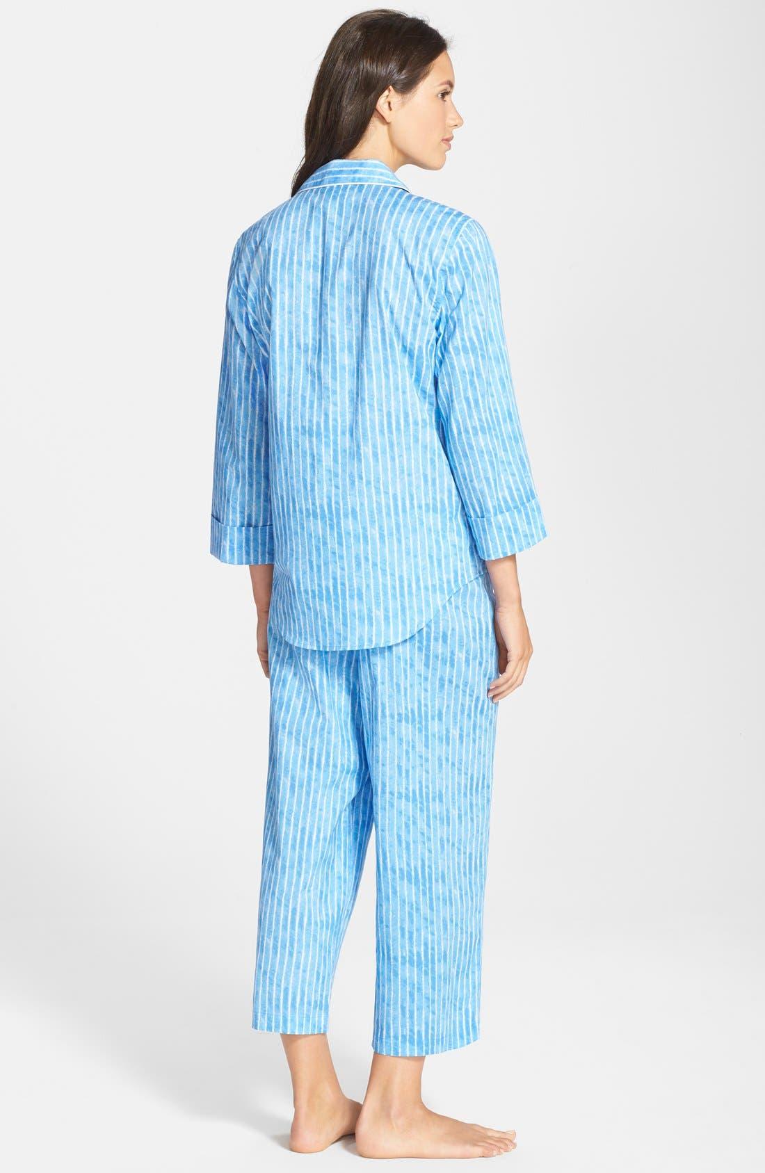 Alternate Image 2  - Lauren Ralph Lauren Notch Collar Capri Pajamas