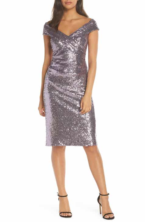 Vince Camuto Sequin Off the Shoulder Sheath 8749c0529