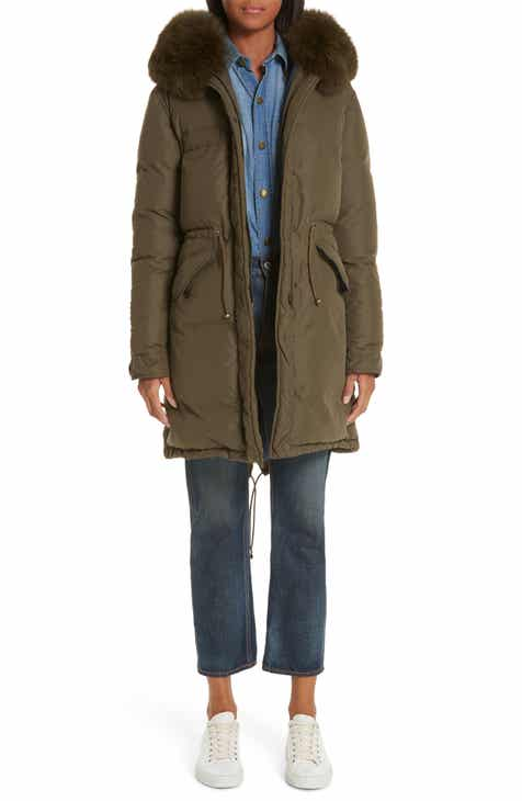 6786ce699eea Mr   Mrs Italy Genuine Fox Fur Trim Down Puffer Coat