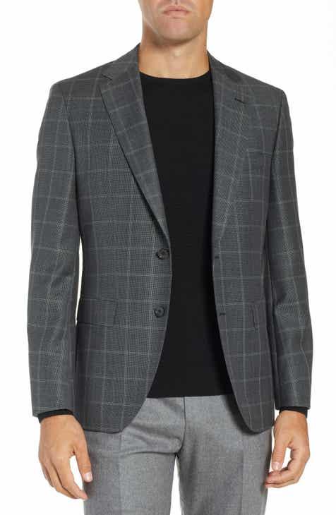 c6bf9c2fcfdf BOSS Jewels Classic Fit Windowpane Wool Sport Coat
