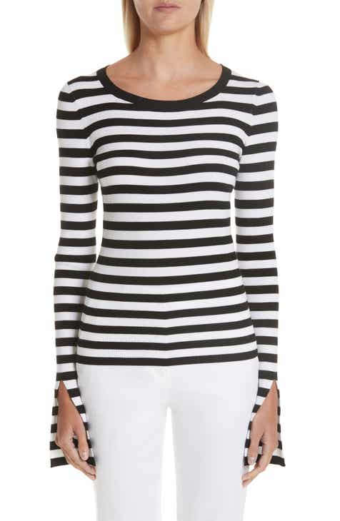 Michael Kors Split Sleeve Stripe Sweater by MICHAEL KORS
