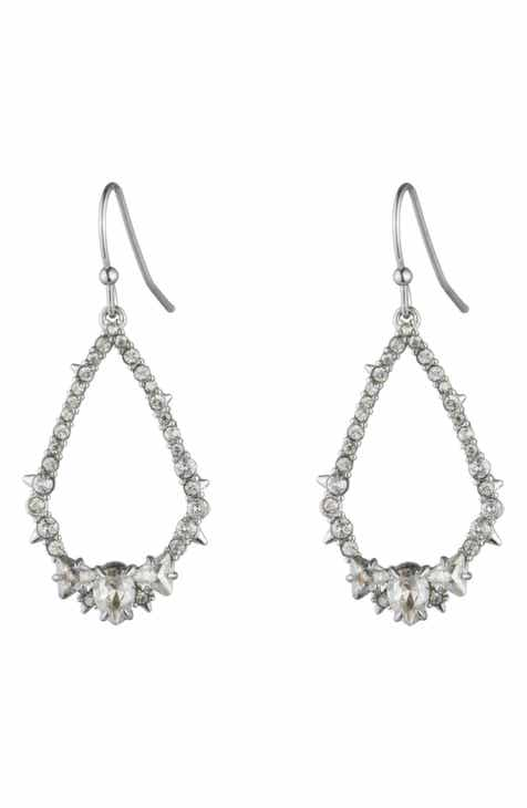 Alexis Bittar Essentials Crystal Encrusted Spike Teardrop Earrings