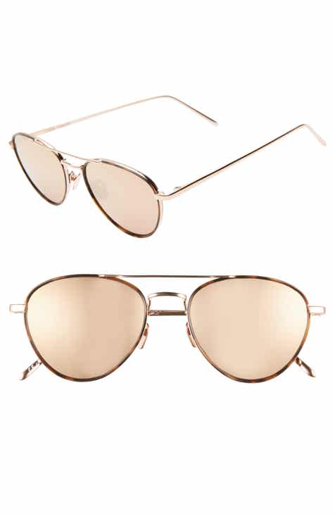 573abc1131ec Linda Farrow 51mm Aviator Sunglasses