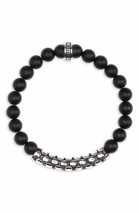 King Baby Onyx Bead Bracelet