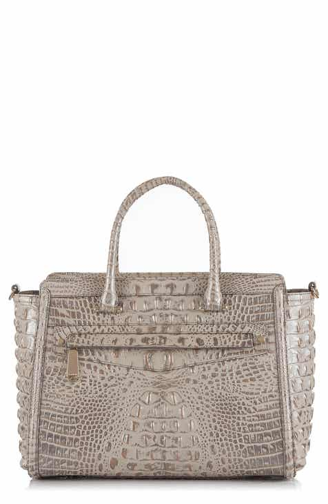 Brahmin Harper Embossed Leather Satchel