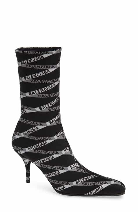 1358f1a4089 Balenciaga Logo Sock Boot (Women).  1