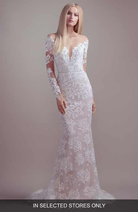 46c0fa9c2f3 Blush by Hayley Paige Jameson Off the Shoulder Long Sleeve Lace Wedding  Dress