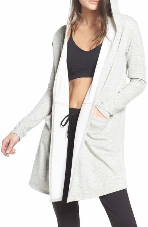 Zella Plush Lined Wrap Hooded Jacket 1f0820b900c2