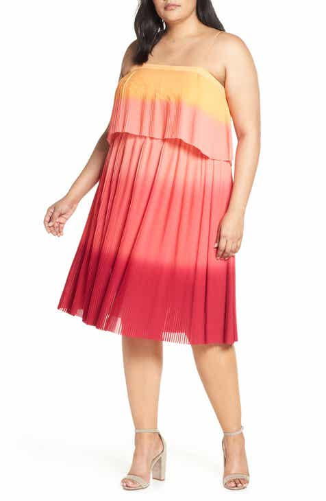 Leith Pleated Midi Dress (Plus Size) by LEITH