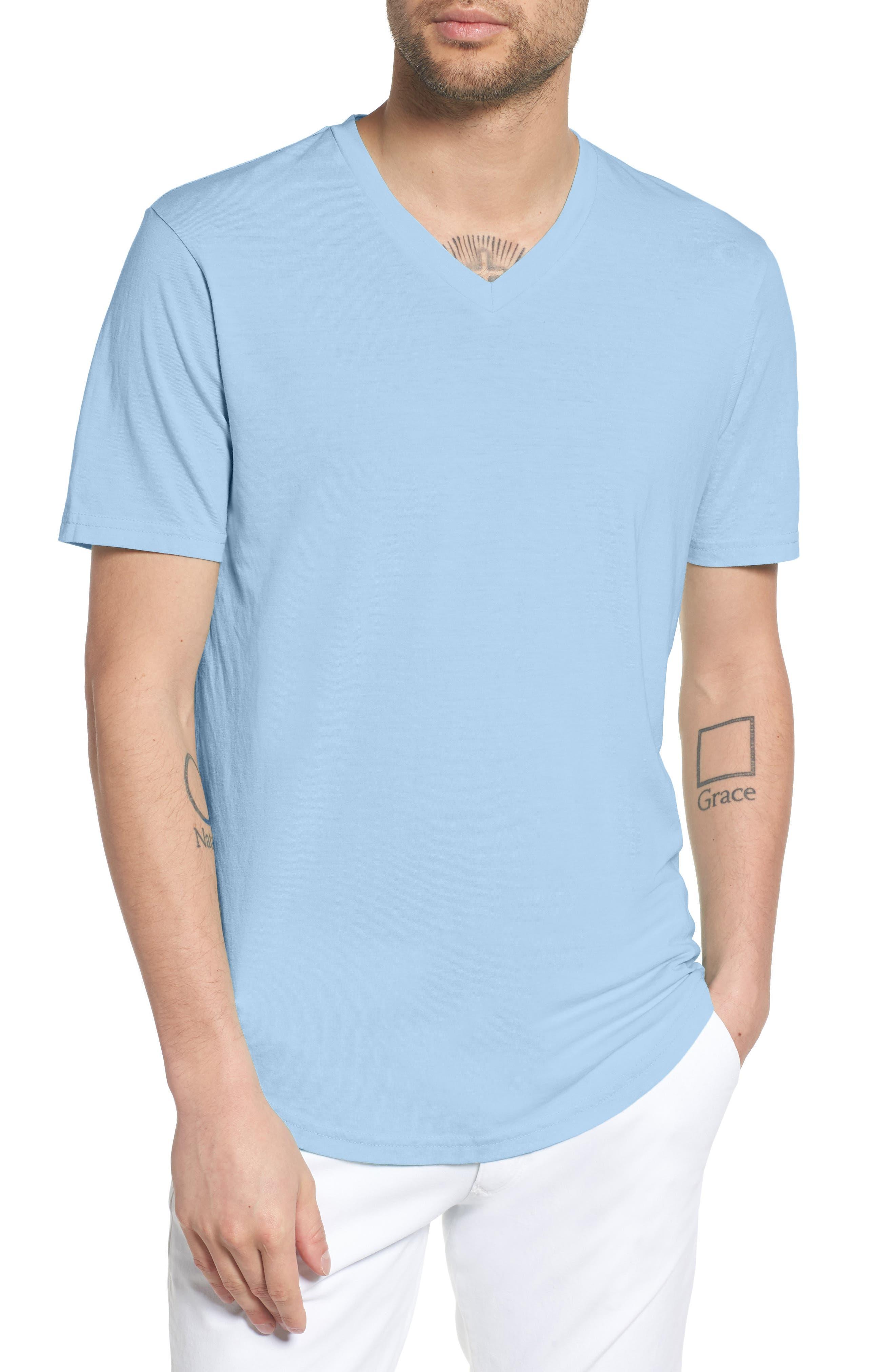 8e3609a84c5 Men s Purple V-Neck T-Shirts