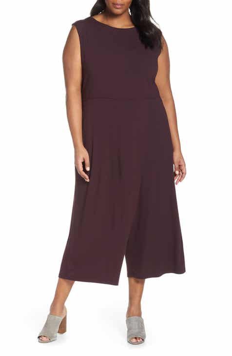 ba5e368cbc67 Eileen Fisher Faux Wrap Jumpsuit (Plus Size)