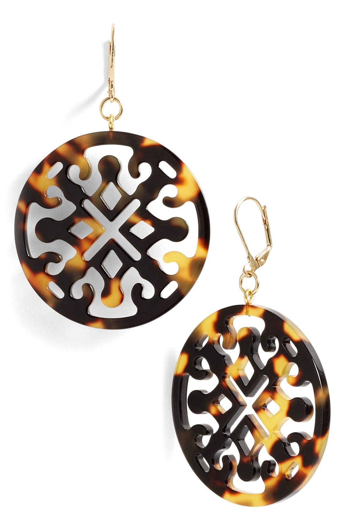 Alternate Image 1 Selected - L. Erickson Medallion Filigree Drop Earrings