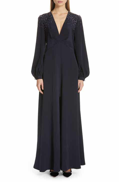 Sachin & Babi Vivetta Beaded Silk Crepe Evening Dress By SACHIN AND BABI by SACHIN AND BABI 2019 Sale