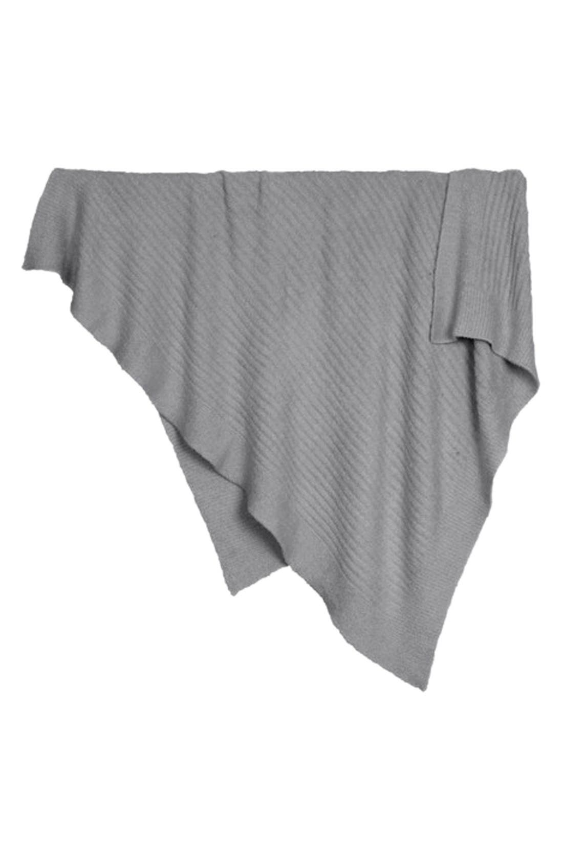 CozyChic Light Ribbed Throw,                         Main,                         color, Pewter