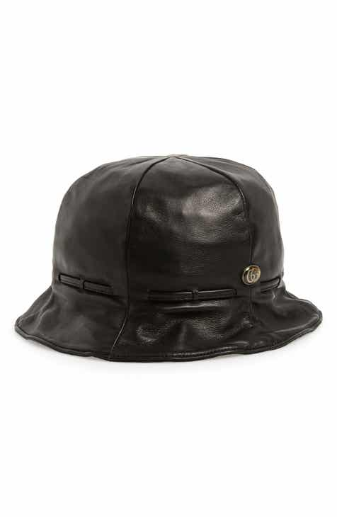 1a8378c4566 Gucci Leather Bucket Hat