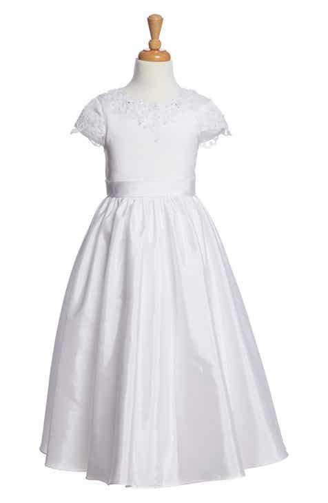 25765bd58a2 Lauren Marie Beaded First Communion Dress (Little Girls   Big Girls)