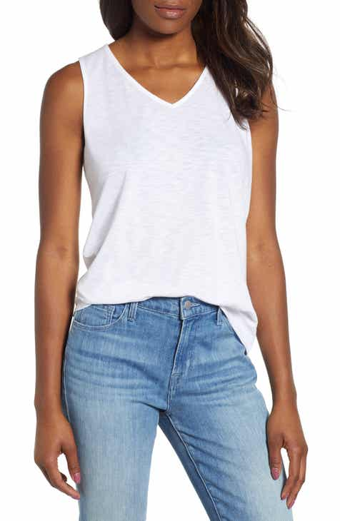 de7d18e9e72234 Malibu Embroidered Racerback Tank Top (Regular   Petite) (Nordstrom  Exclusive)