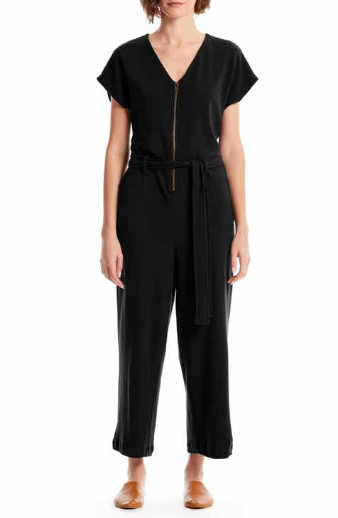 3213aadfffd8 Michael Stars Fiona Zip-Up Cotton Blend Jumpsuit