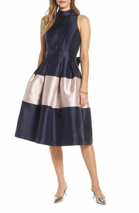 Women S Blue Fit Amp Flare Dresses Nordstrom