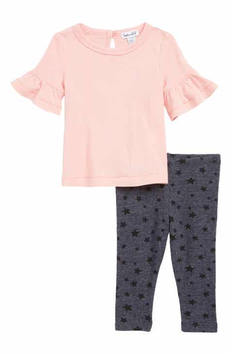 Splendid Ruffle T-Shirt & Star Leggings Set (Baby)