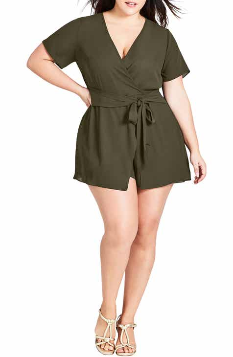 e94e7fa8777 City Chic Sweet Tie Playsuit (Plus Size)
