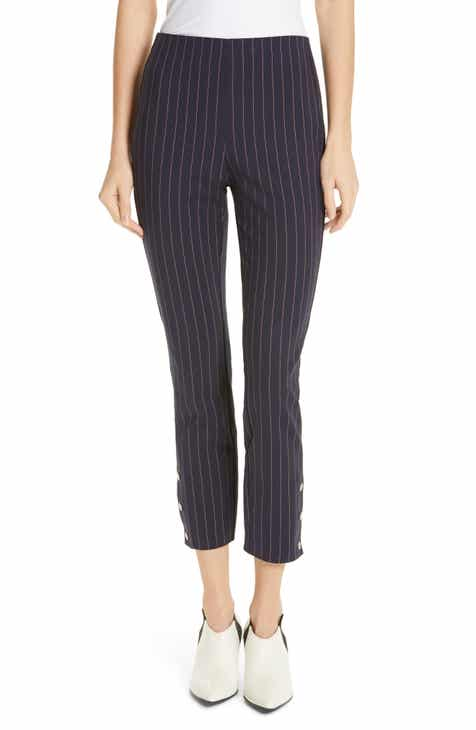 rag & bone Simone Pinstripe Snap Cuff Pants by RAG AND BONE