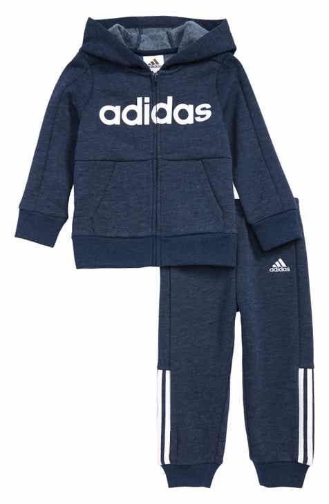 dea15ff720 adidas Zip Front Hoodie   Sweatpants Set (Baby)