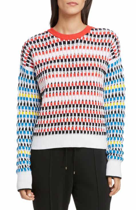 d1f5a256 KENZO Contrast Sleeve Open Knit Sweater