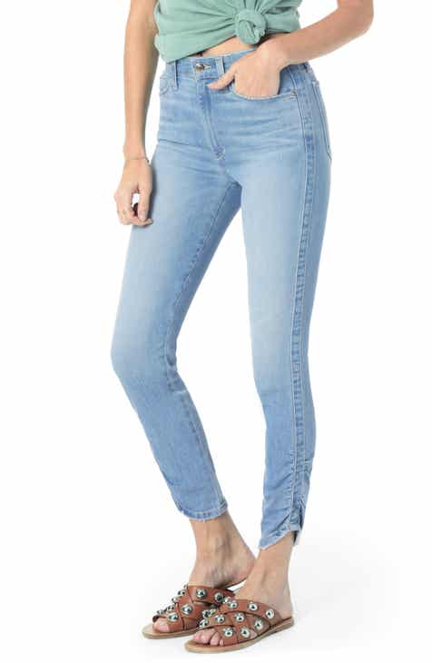 Joe's Charlie High Waist Gathered Hem Ankle Skinny Jeans (Hannah) by JOES